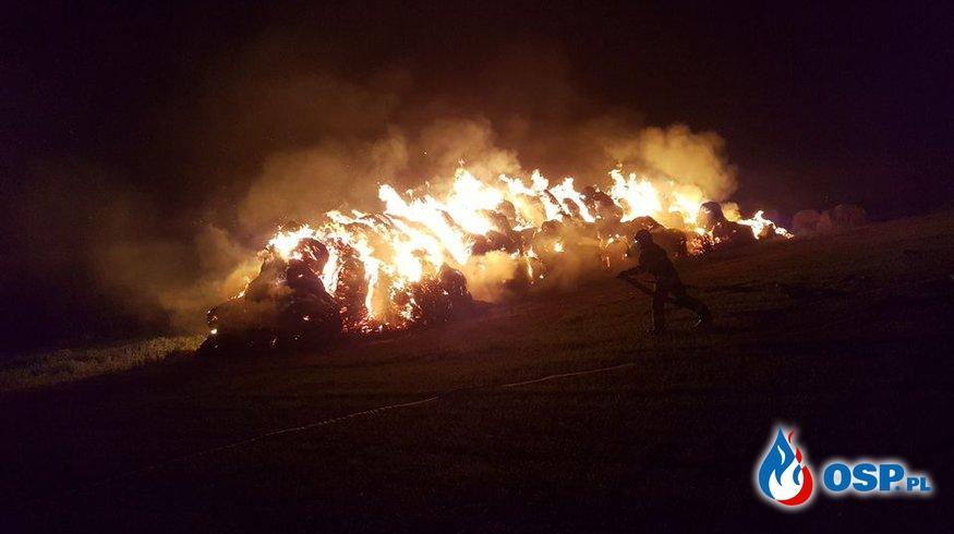 Pożar stogu słomy OSP Ochotnicza Straż Pożarna