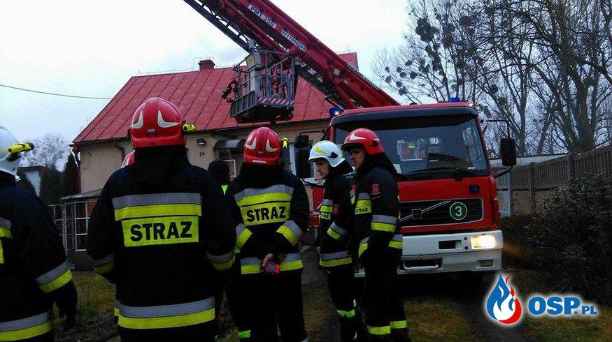 Pożar sadzy w kominie w Odolanowie przy ul. Bartosza OSP Ochotnicza Straż Pożarna