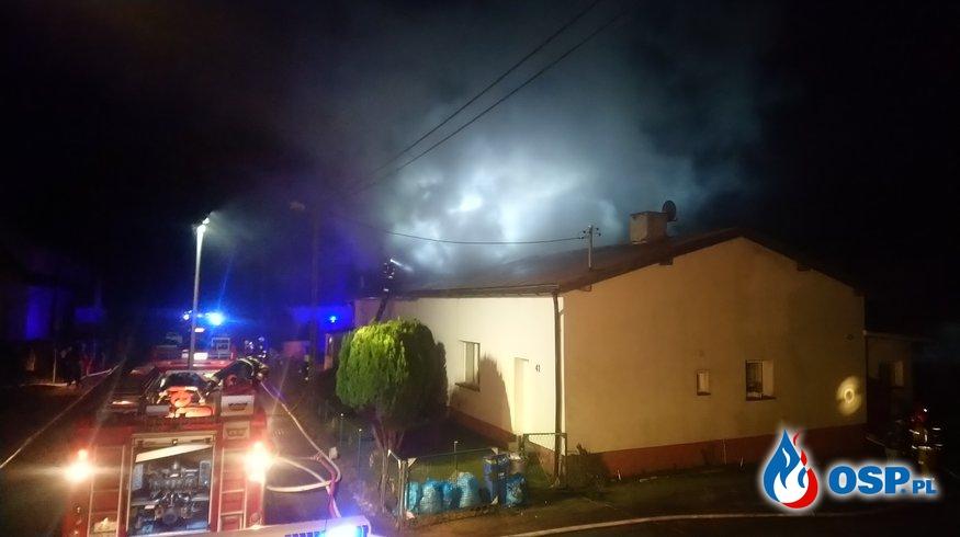 Pożar domu w Brojcach OSP Ochotnicza Straż Pożarna