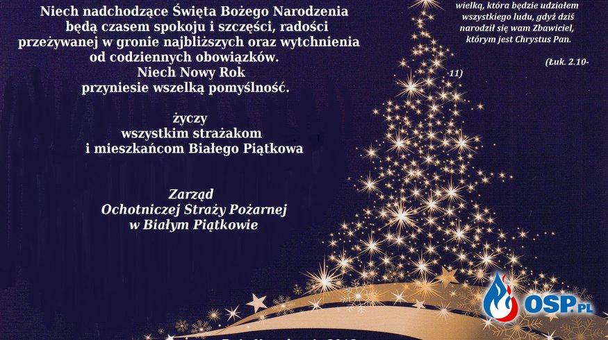 Wesołych Świąt Bożego Narodzenia OSP Ochotnicza Straż Pożarna
