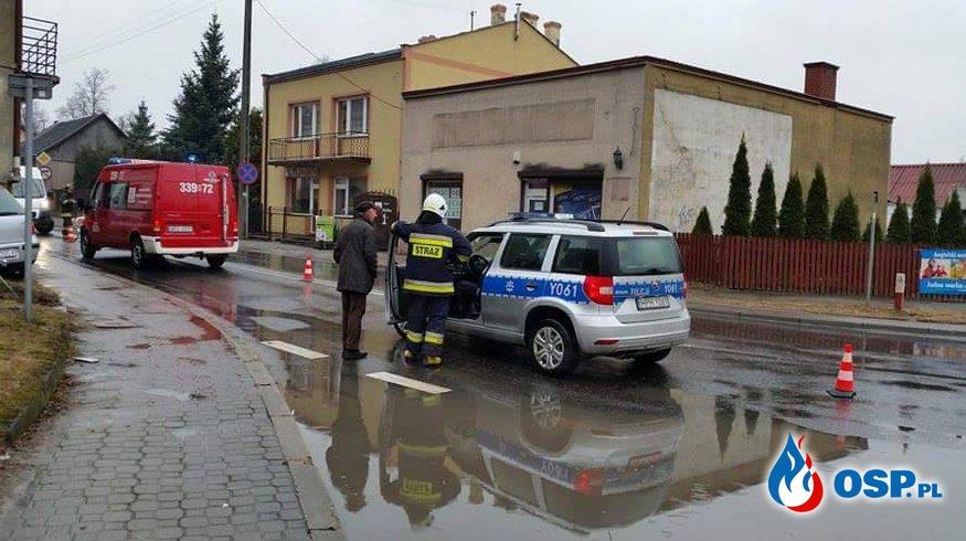 wypadek - skrzyżowanie DK 9 i DW 747 OSP Ochotnicza Straż Pożarna