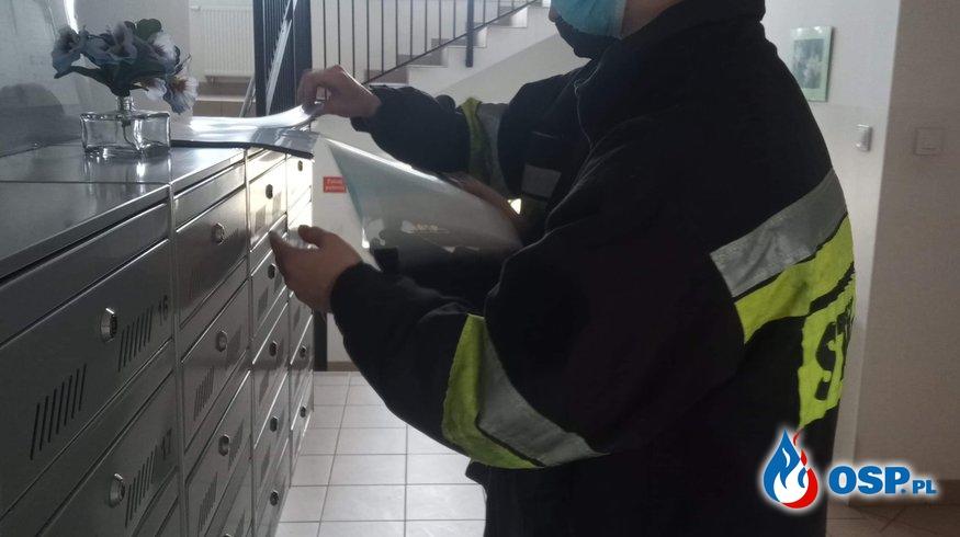 Kolportaż ulotek #SzczepimySię OSP Ochotnicza Straż Pożarna