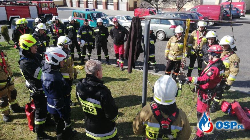 Szkolenie z zakresu ratownictwa wysokościowego OSP Ochotnicza Straż Pożarna