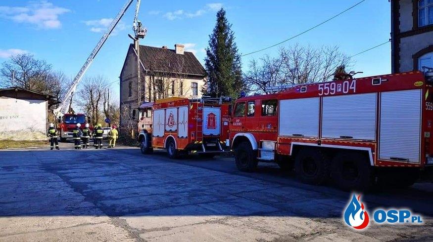 [6P/2020] Pożar sadzy w przewodzie kominowym w Kaczorach OSP Ochotnicza Straż Pożarna