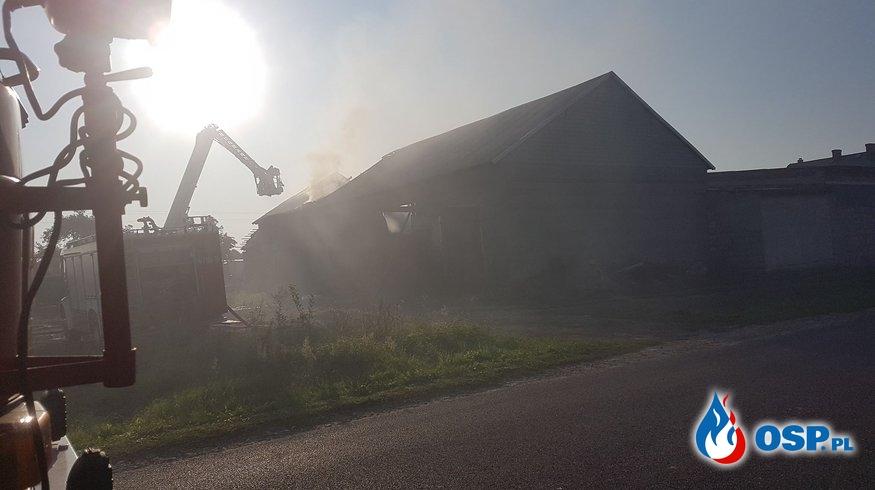 Pożar stodoły w Kamieniu (gm.Koło) OSP Ochotnicza Straż Pożarna
