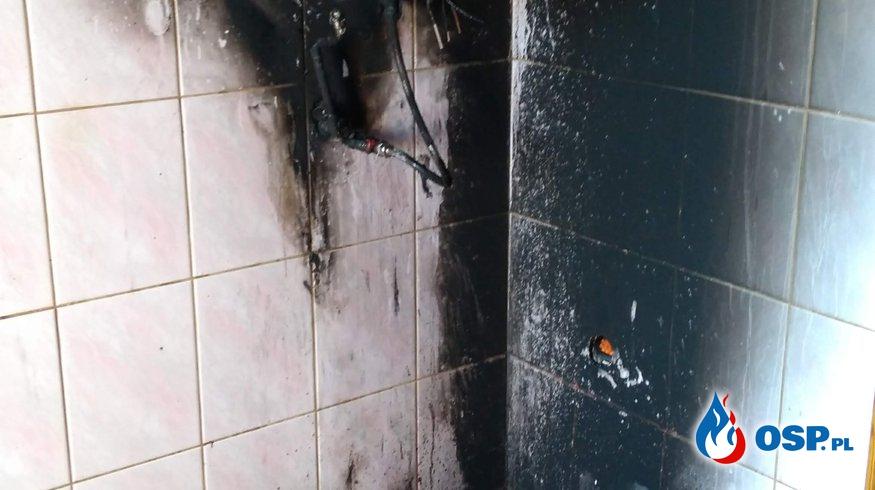Pożar plebani w Reszkach OSP Ochotnicza Straż Pożarna