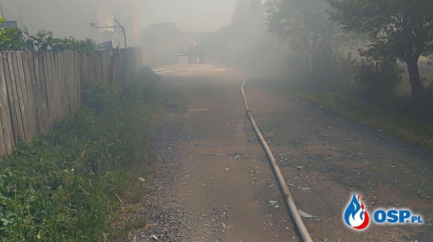 Spłonęło siedem kucy. OSP Ochotnicza Straż Pożarna
