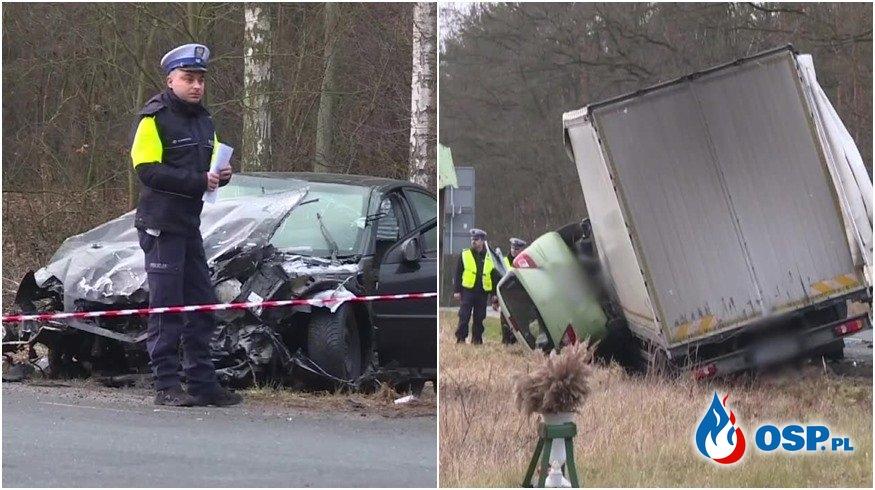 Pijany kierowca sprawcą tragicznego wypadku. Zginęły dwie kobiety. OSP Ochotnicza Straż Pożarna