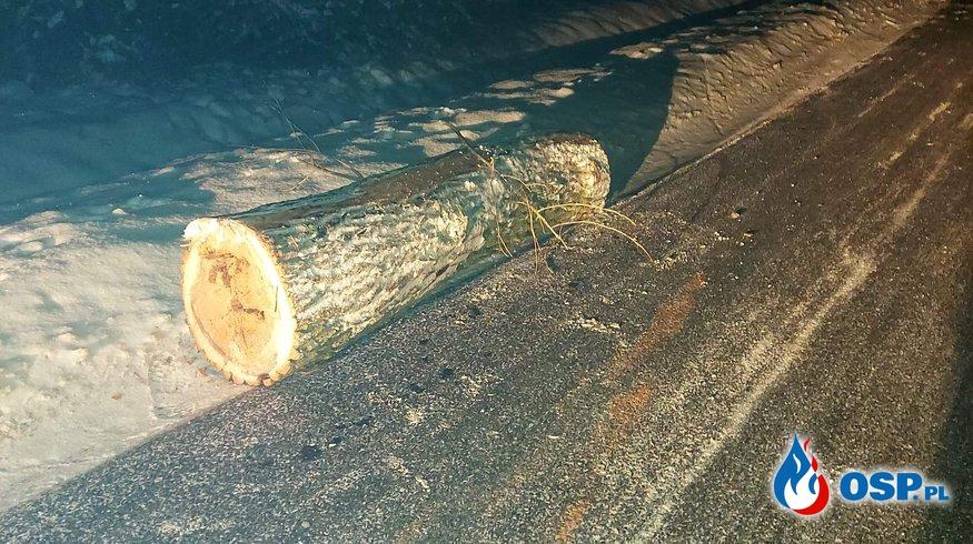 05/2021 13.02.2021 05:01  Leżący pień drzewa na drodze wojewódzkiej 458 w miejscowości Michałów OSP Ochotnicza Straż Pożarna