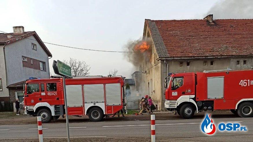 Pożar w domu naczelnika OSP Kwidzyn. Koledzy strażaka apelują o pomoc. OSP Ochotnicza Straż Pożarna