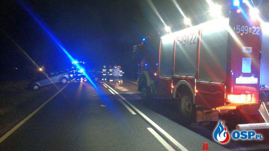 Na drodze nr 63 zderzyły się trzy samochody OSP Ochotnicza Straż Pożarna