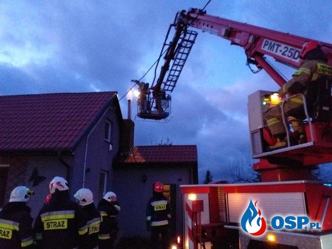 Sylwestrowy wyjazd do pożaru sadzy OSP Ochotnicza Straż Pożarna
