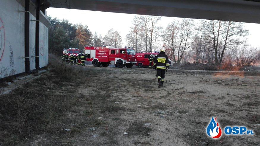 Dzisiejszy pożar wagonu pociągu pasażerskiego OSP Ochotnicza Straż Pożarna