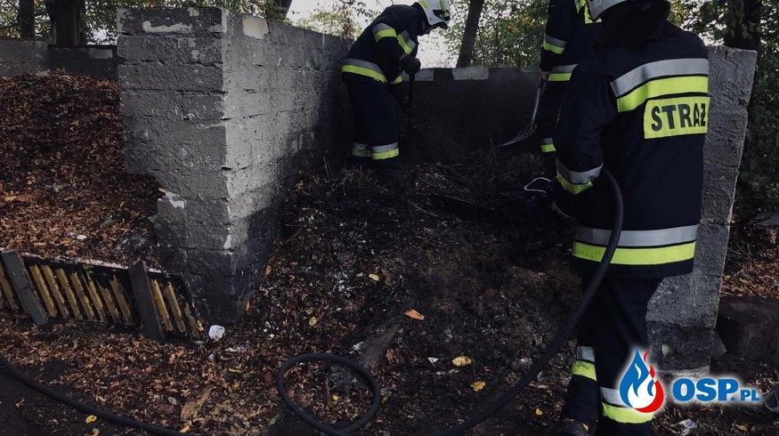 Pożar śmieci w Dreglinie OSP Ochotnicza Straż Pożarna