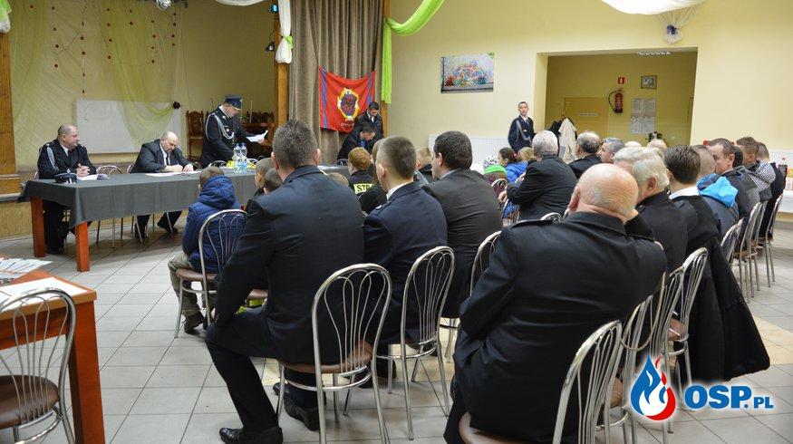 Walne zebranie sprawozdawczo - wyborcze za rok 2015 OSP Ochotnicza Straż Pożarna