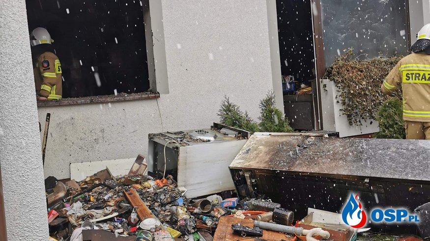 Pożar budynku mieszkalnego m.Czarne OSP Ochotnicza Straż Pożarna