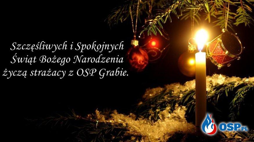 Życzenia od naszych strażaków z okazji Świąt Bożego Narodzenia. OSP Ochotnicza Straż Pożarna
