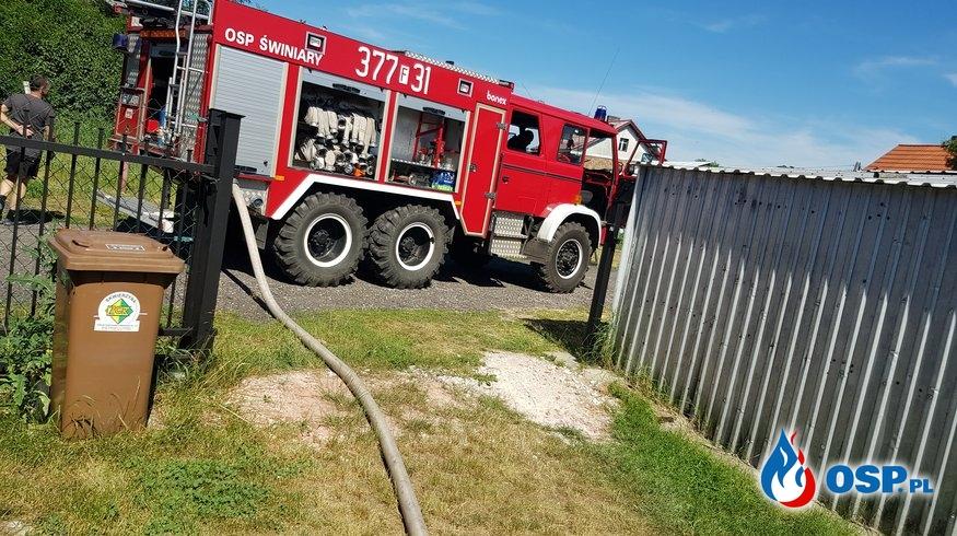 Pożar budynku gospodarczego OSP Ochotnicza Straż Pożarna