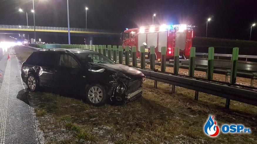 Wypadek na autostradzie A2 OSP Ochotnicza Straż Pożarna