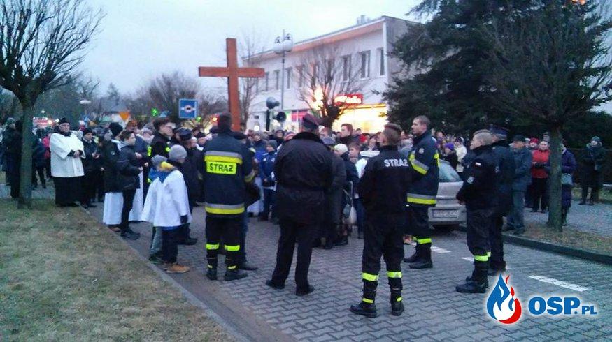 Droga krzyżowa ulicami Kępna OSP Ochotnicza Straż Pożarna