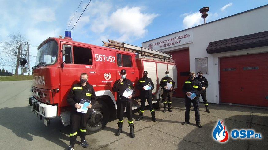 Ulotki przeciw Covid 19 OSP Ochotnicza Straż Pożarna