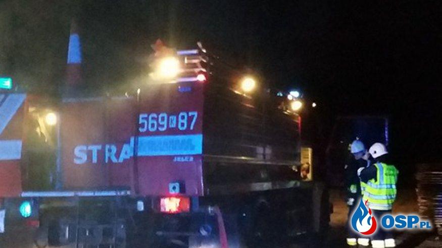 Pożar budynku Gospodarczego w Kłaju OSP Ochotnicza Straż Pożarna