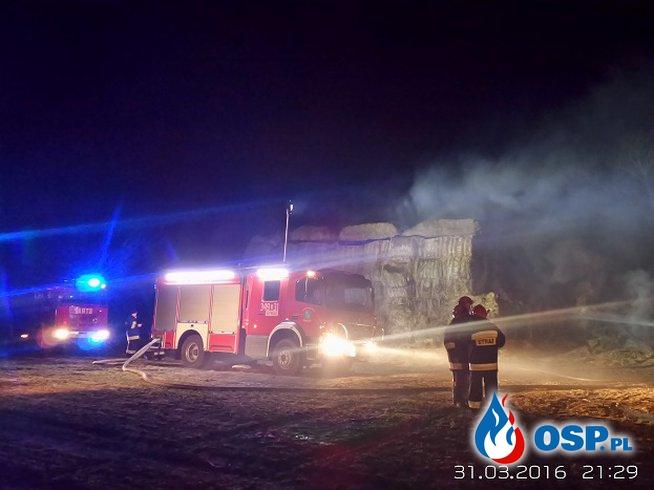 Ciecholub, pożar słomy 31.03.2016 OSP Ochotnicza Straż Pożarna