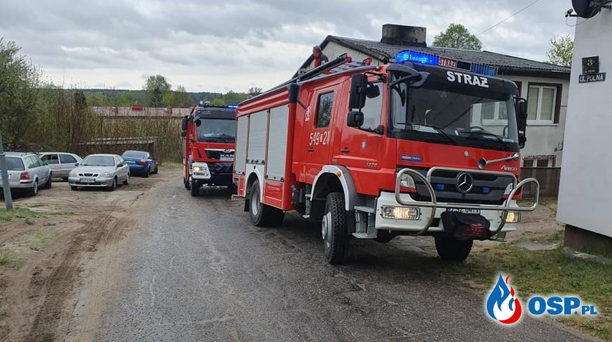 Plama Oleju DK25 OSP Ochotnicza Straż Pożarna