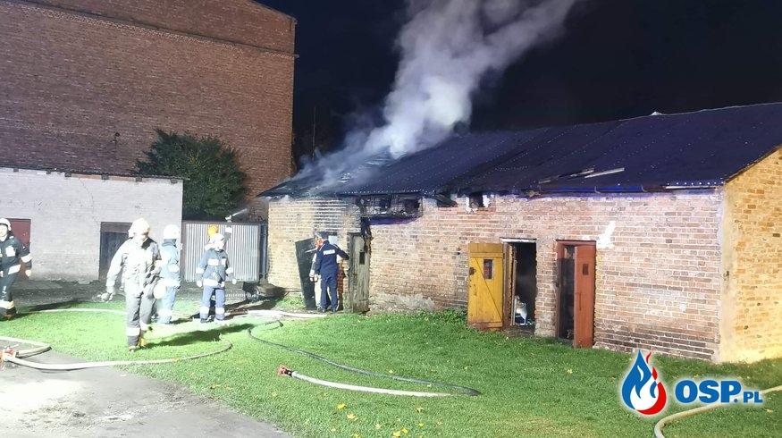 Pożar budynku gospodarczego w Glinojecku OSP Ochotnicza Straż Pożarna