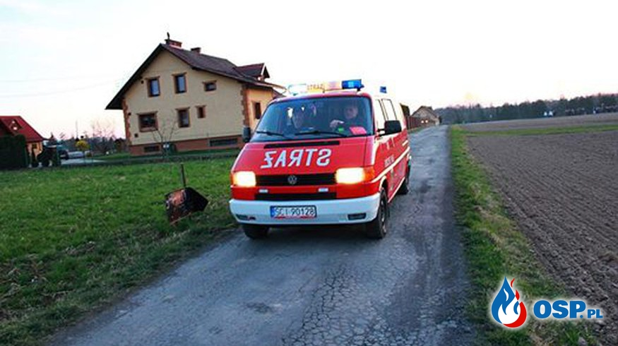 Zabezpieczenie drogi krzyżowej OSP Ochotnicza Straż Pożarna