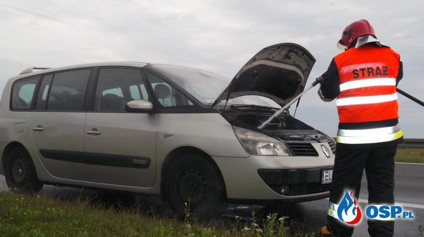 Pożar samochodu na A2 OSP Ochotnicza Straż Pożarna