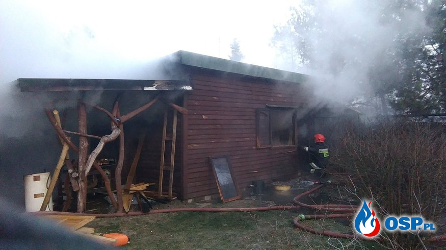 Pożar warsztatu stolarskiego w Ozorkowie OSP Ochotnicza Straż Pożarna