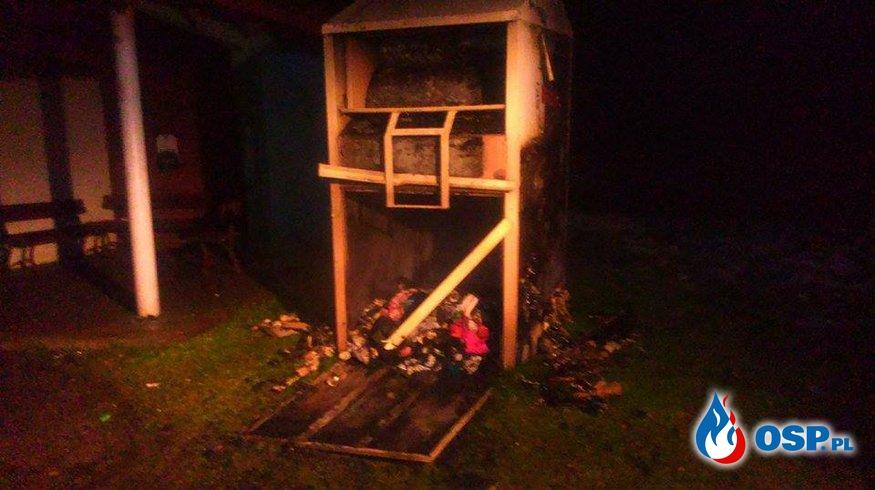 Pożar kontenera PCK OSP Ochotnicza Straż Pożarna