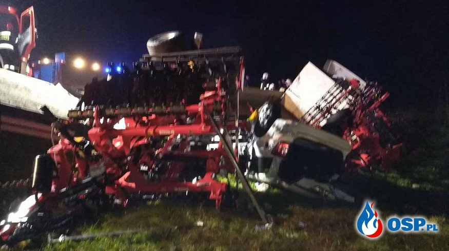 Śmiertelny wypadek na drodze krajowej nr.94 w miejscowości Machowa. OSP Ochotnicza Straż Pożarna
