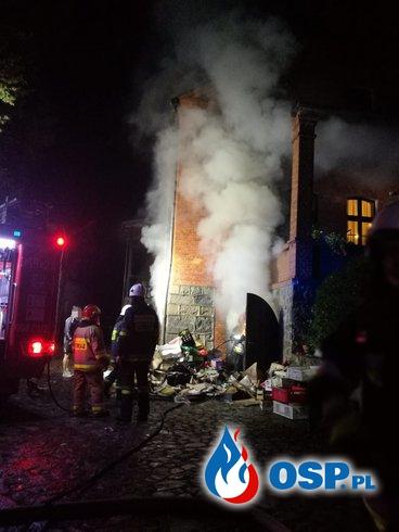 Pożar kotłowni 28-09-2018 OSP Ochotnicza Straż Pożarna
