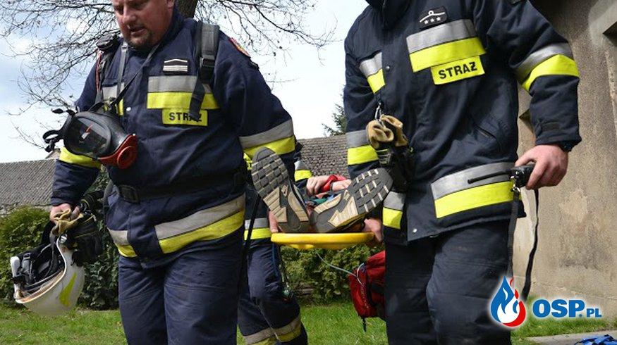 Pożar przedszkola w Turkowach- ćwiczenia OSP Ochotnicza Straż Pożarna