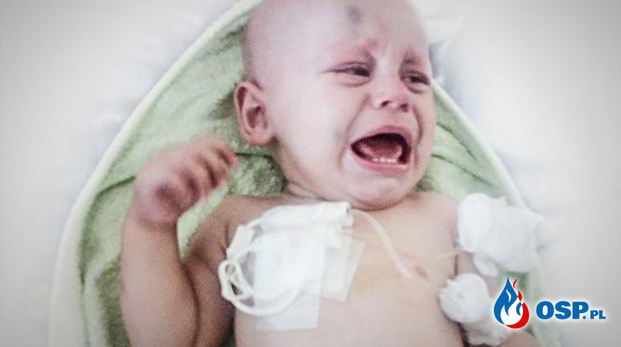 Rak nie będzie czekał, by zabić Michasia! My nie możemy czekać, by pomóc... OSP Ochotnicza Straż Pożarna