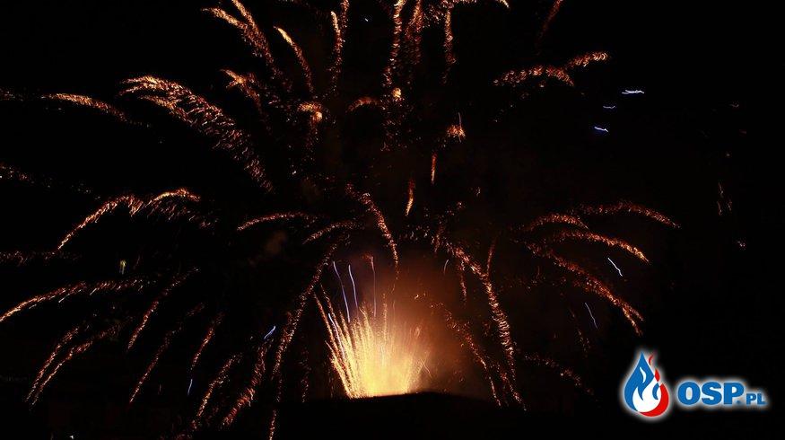 Bezpiecznego Nowego Roku - noworoczny pokaz sztucznych ogni OSP Ochotnicza Straż Pożarna