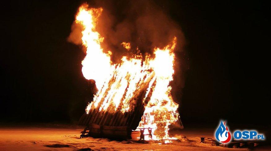 Drewniana bacówka spłonęła w nocy na Podhalu OSP Ochotnicza Straż Pożarna