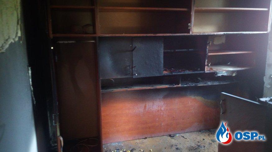 Pożar pomieszczenia w domu jednorodzinnym - 7 września 2018r. OSP Ochotnicza Straż Pożarna