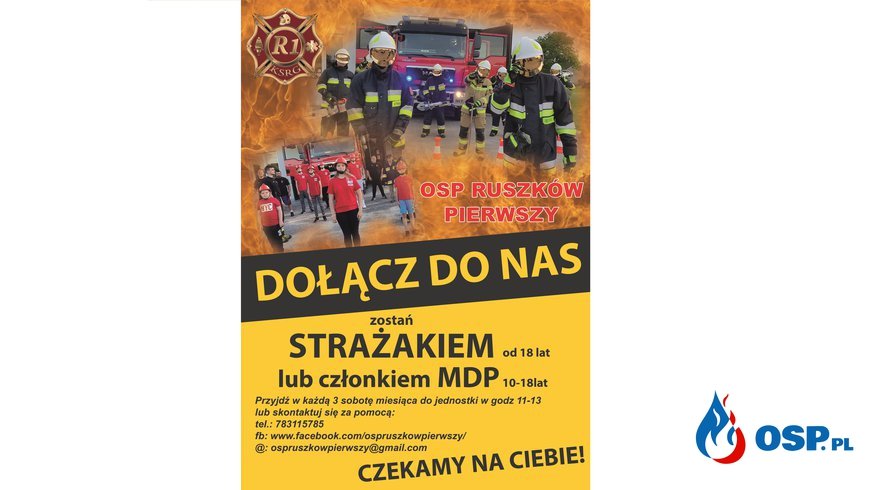 Bądź jednym z nas! OSP Ochotnicza Straż Pożarna