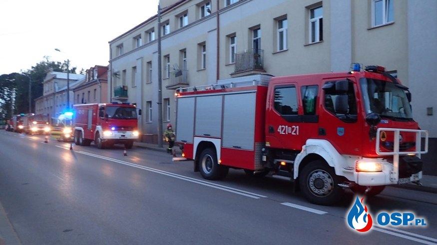 Pożar budynku wielorodzinnego w Grajewie OSP Ochotnicza Straż Pożarna