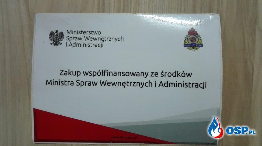 Nowy rozpieracz kolumnowy dzięki dotacji MSWiA OSP Ochotnicza Straż Pożarna