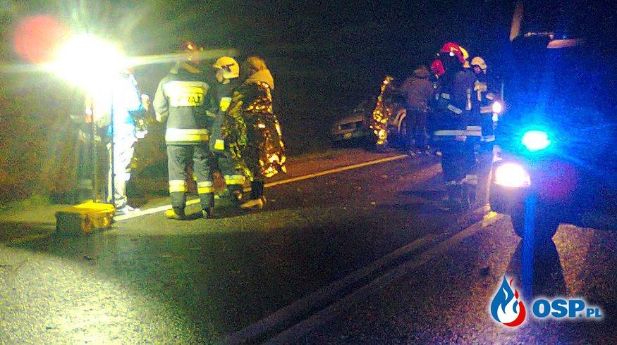 Wypadek drogowy DK 22 Uniechów-Cierznie OSP Ochotnicza Straż Pożarna