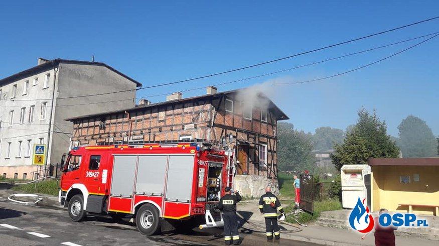 Pożar mieszkania Warcino 03-08-2018 r OSP Ochotnicza Straż Pożarna