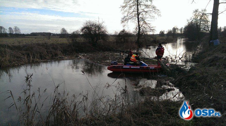 Poszukiwania osoby zaginionej na rzece oraz zalewie Nowomiejskim OSP Ochotnicza Straż Pożarna