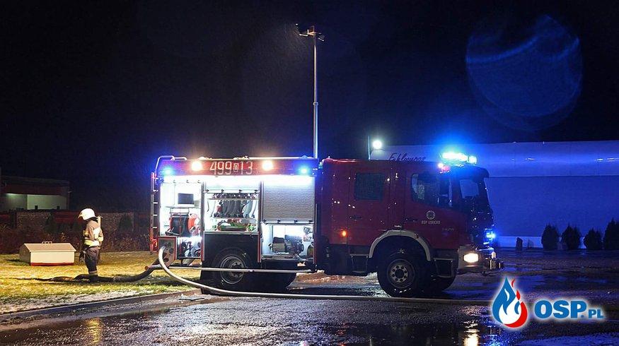 Zalana stacja paliw przy DK 94 OSP Ochotnicza Straż Pożarna