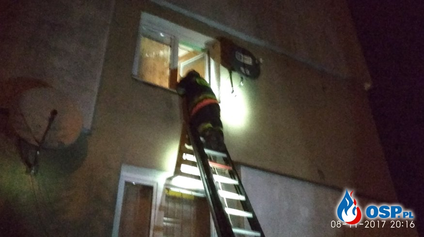 08-11-17 godz. 20:07 Mężczyzna zamknięty w mieszkaniu OSP Ochotnicza Straż Pożarna