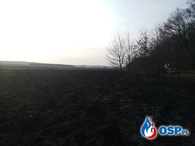 dwa pożary traw w jednym czasie OSP Ochotnicza Straż Pożarna