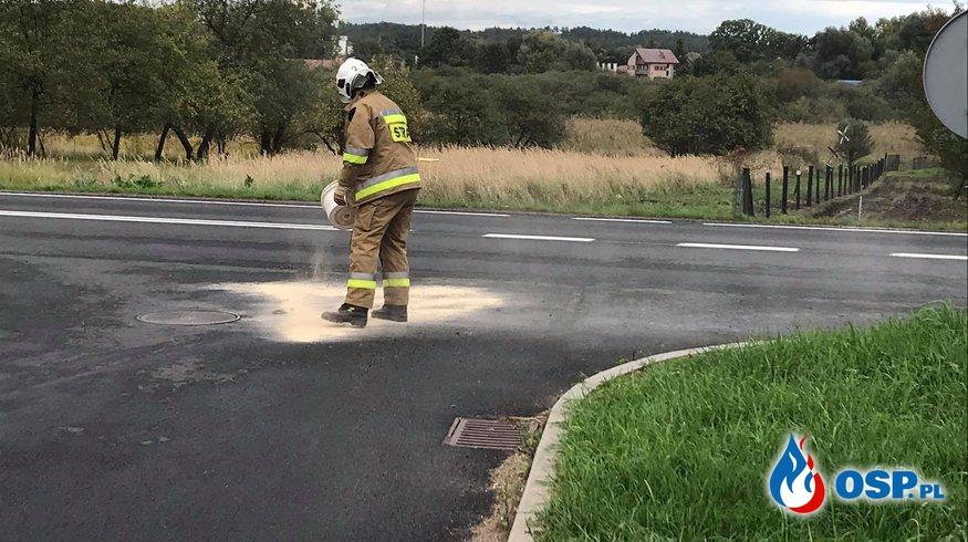 182/2020 Plama oleju OSP Ochotnicza Straż Pożarna
